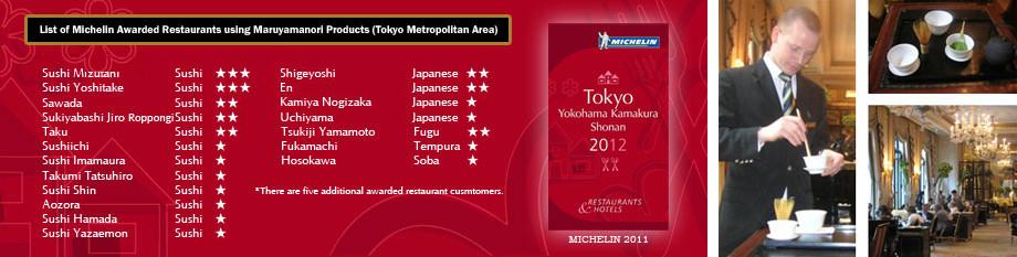twenty-five Michelin awarded restaurants in Tokyo are serving jugetsudo teas