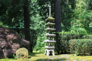 The iconic pagoda in Portland Japanese Garden