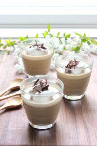 milk hojicha pudding