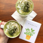 matcha latte at moonstruck chocolate cafe