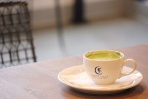 matcha latte at moonstruck