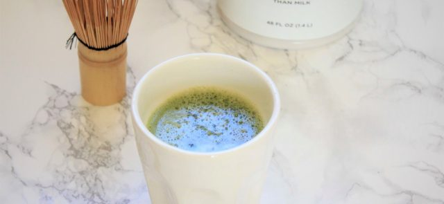 matcha almond latte