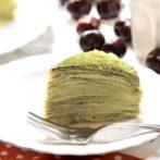 matcha mille crepe cake