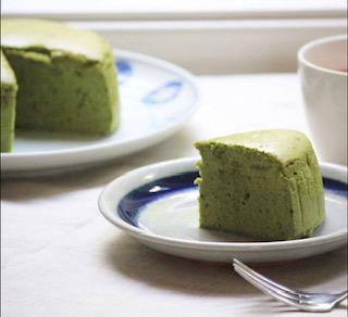 matcha souffle cheese cake