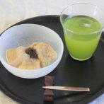 hojicha mochi with tapioca flour