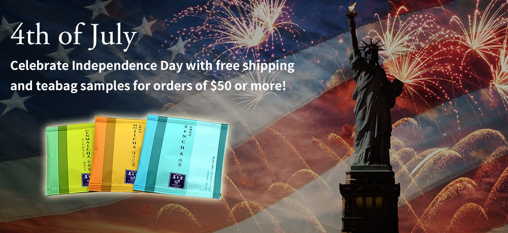 4th of July Celebrate Independence Day with free shipping and teabag samples for orders of $50 or more!